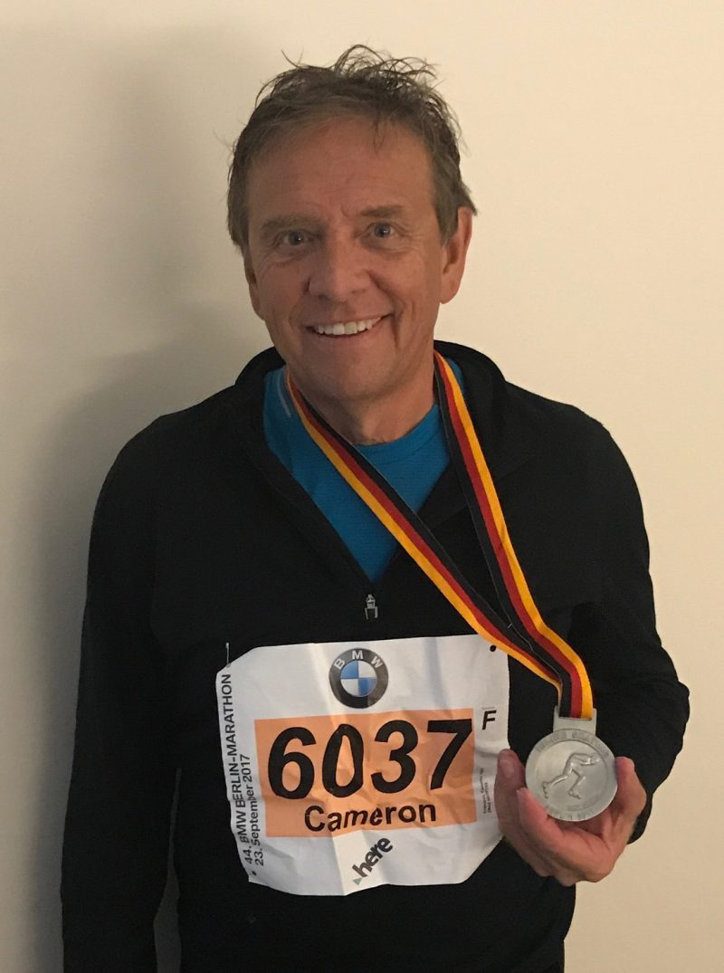 Cam races in BMW Berlin Marathon